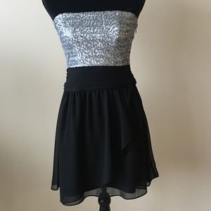 Silver and Black Cocktail Dress